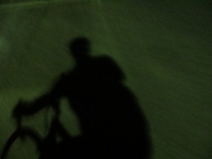 """Anybody can take """"shadow pics"""" during the day.  Here is my first-ever nighttime shadow."""