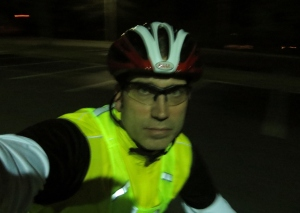 An extremely rare self-portrait at night.  Unfortunately, extended shutter openings mean a little blurring.