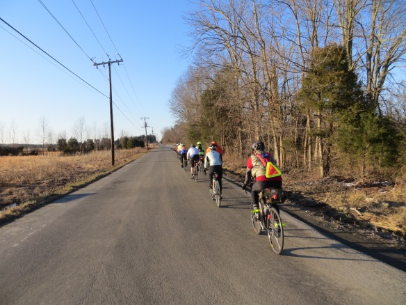 The lead group about eight miles into things, west of Nokesville