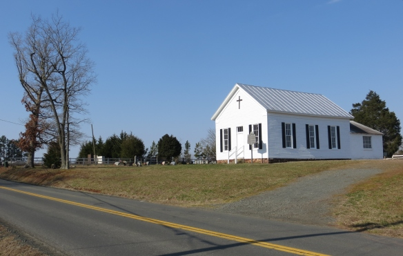 The old Asbury United Methodist Church, near Aden.  This building dates from the 1870s.