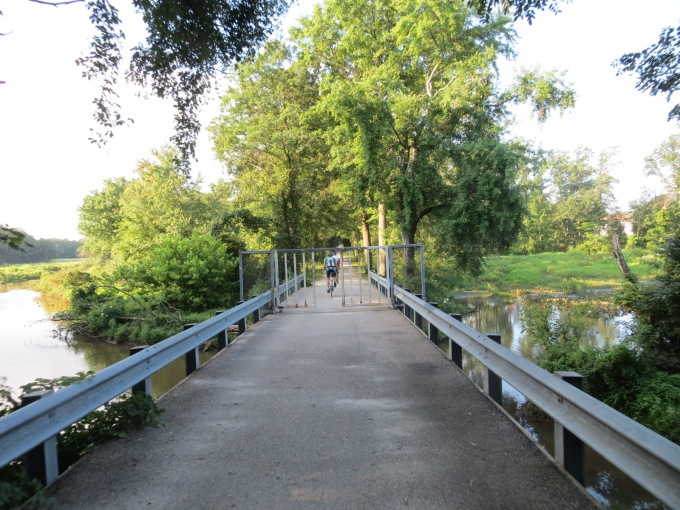 A nifty trail/bridge that helps bypass Rte 1