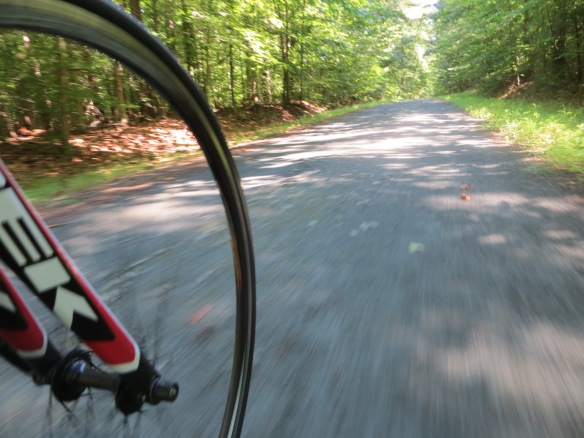 The gravel road.  I'm not travelling nearly as fast as this pic suggests