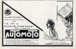 Automoto advert - it suggests you won't notice the Pyrenees with this bike