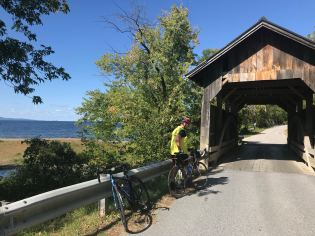 This covered bridge was built in 1870